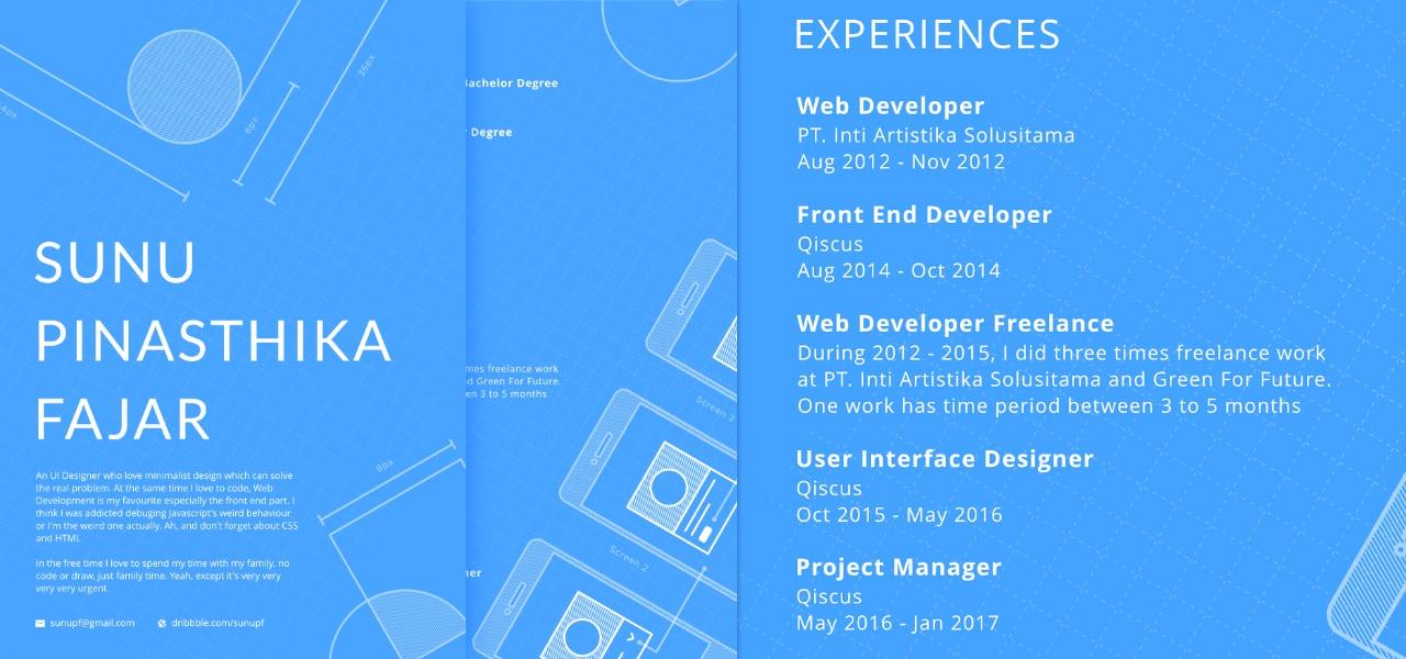 Blue Print Resume