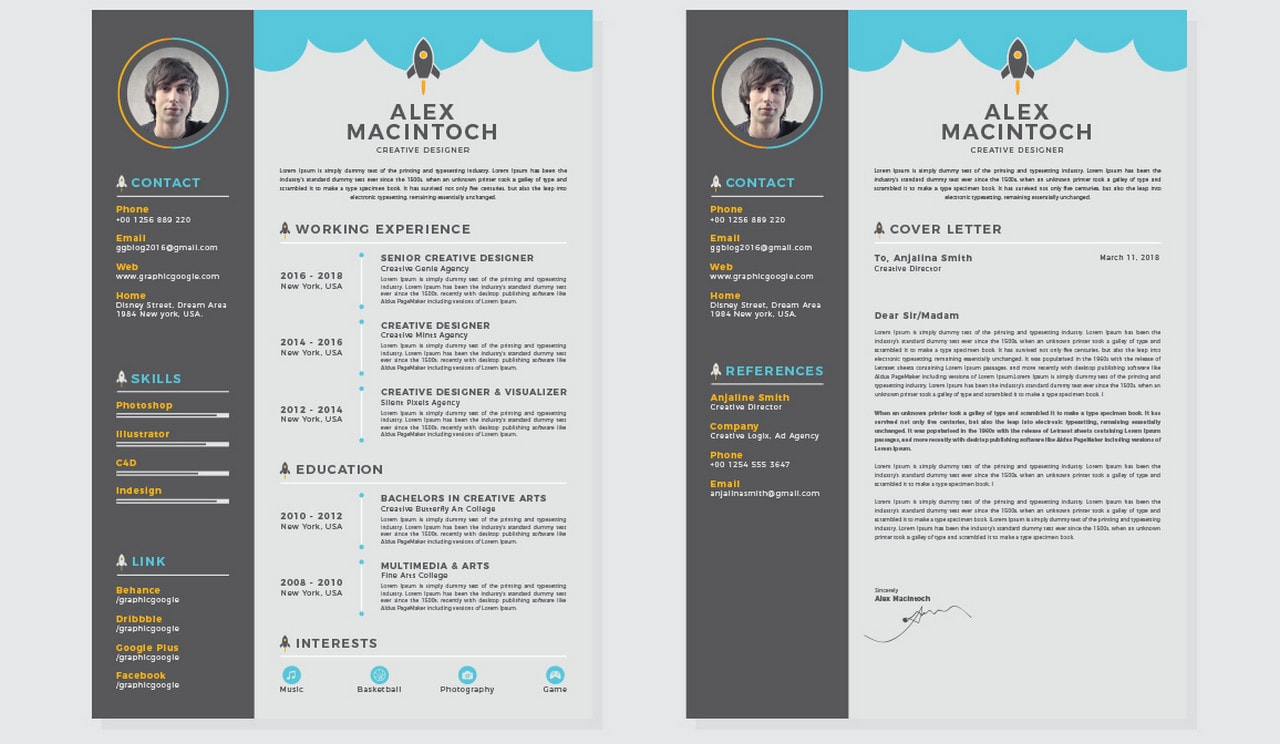 free and beautifully-designed resume templates