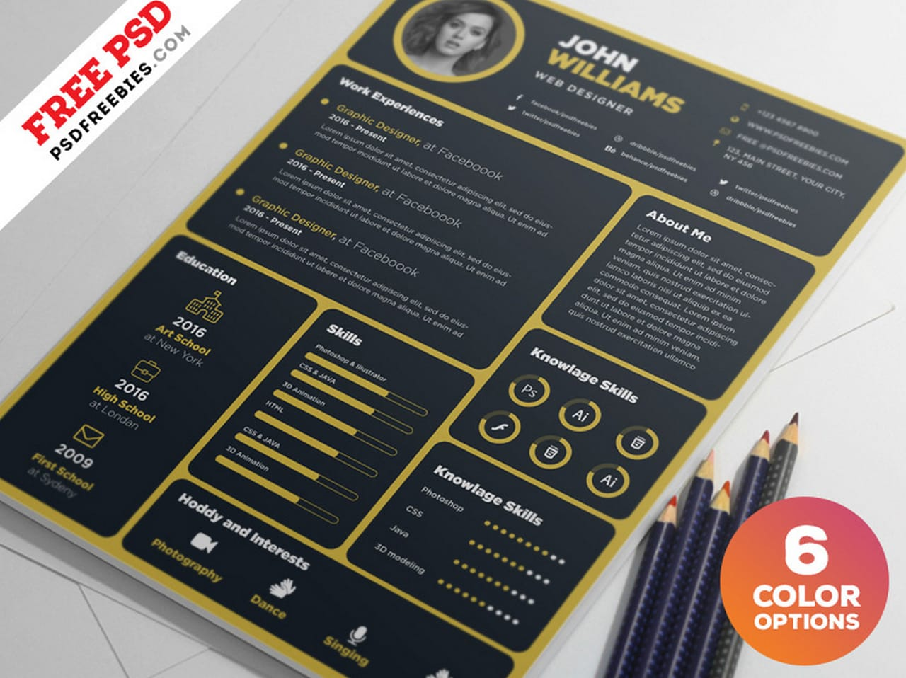 Designer Resume Template PSD Bundle