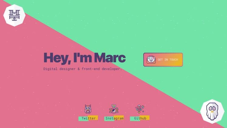 Designing a Portfolio Website with Oversized Typography