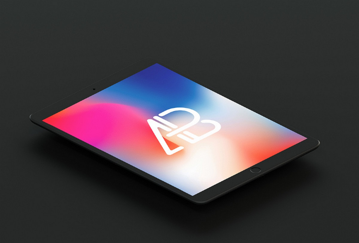 Isometric Matte Black iPad Pro