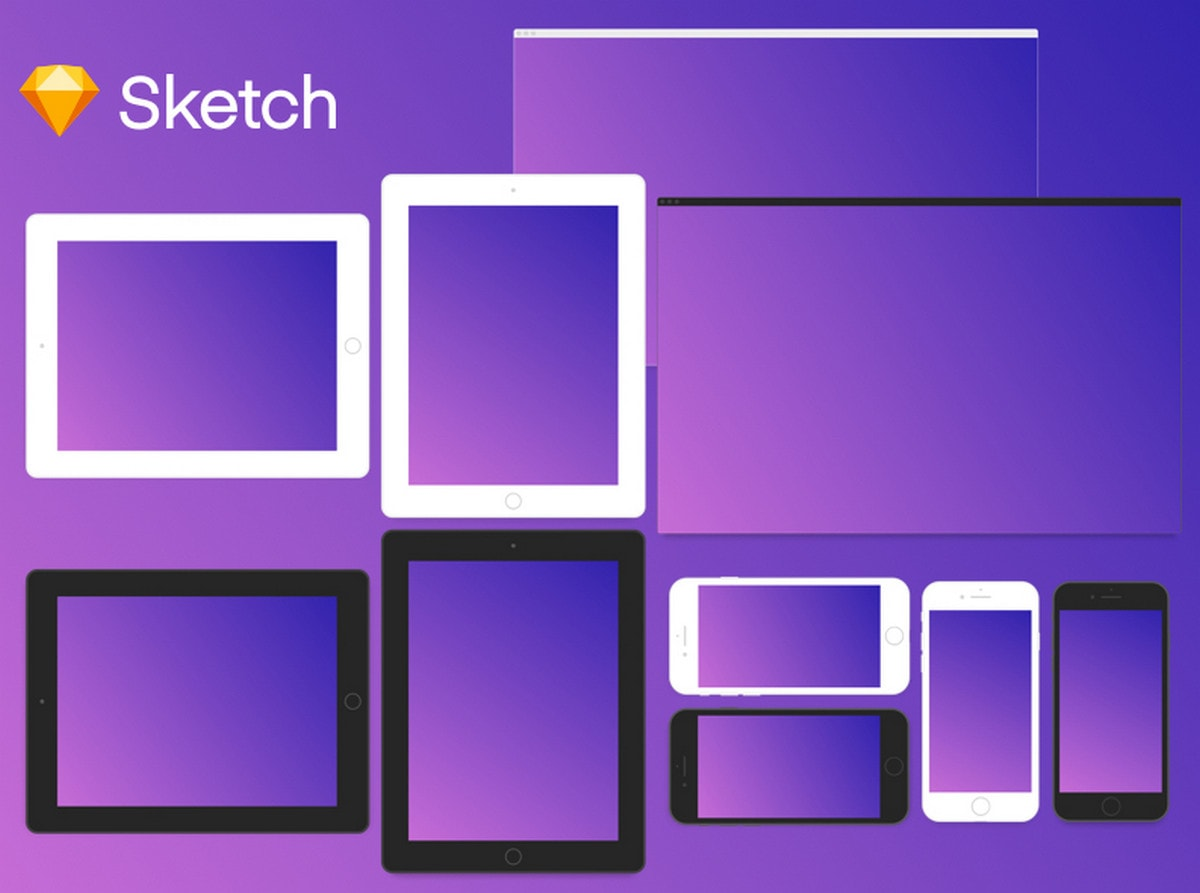 Minimal Devices Sketch Template by Jared Pendergraft