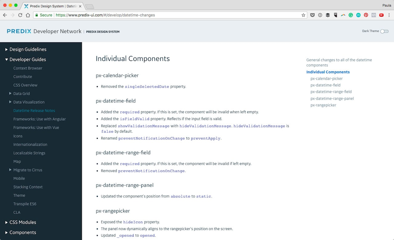 Coded components