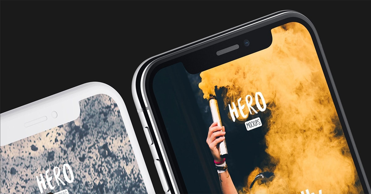 HERO iPhone X Mockups