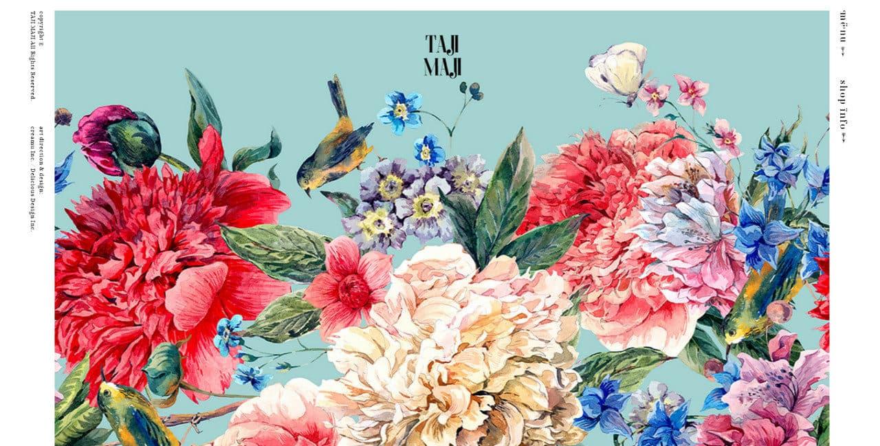 Flowery illustration in Japanese website