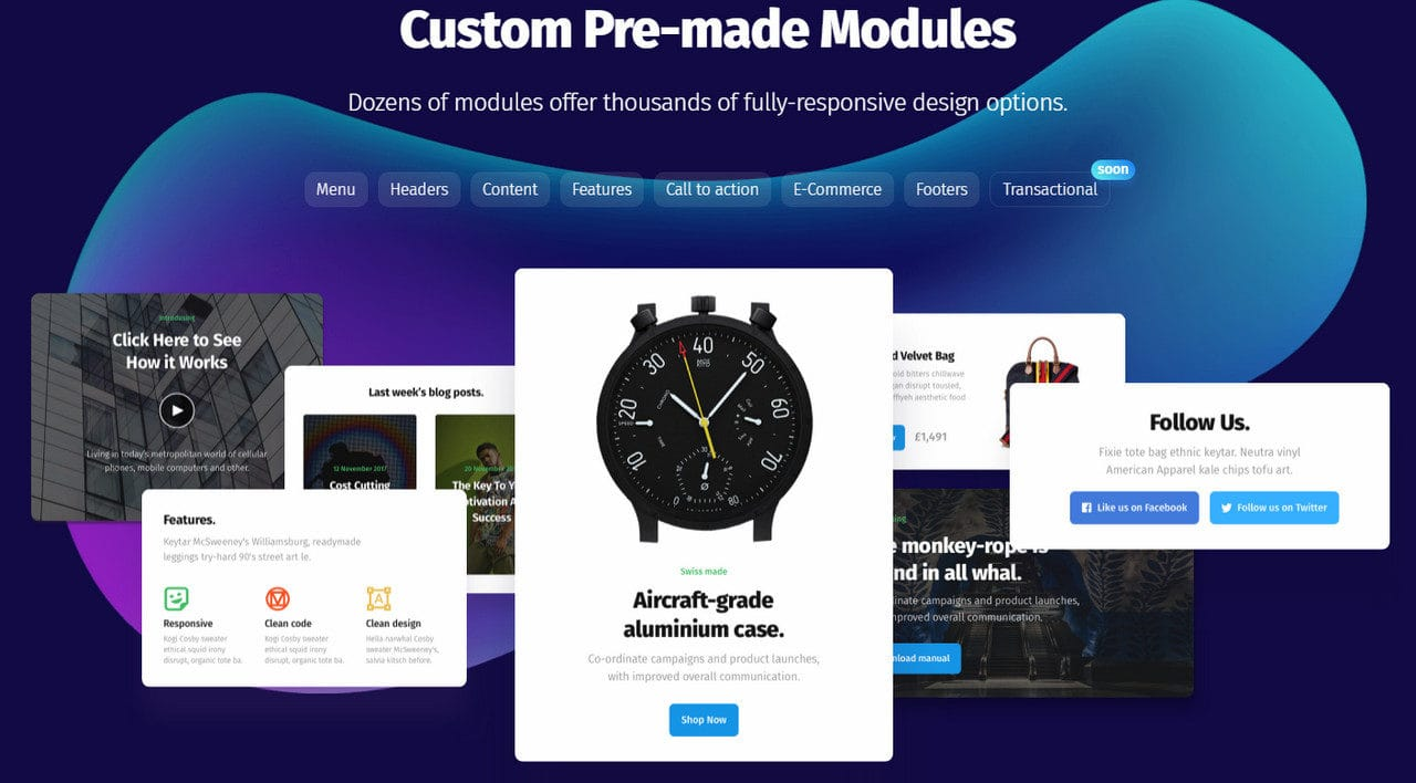 best free html email templates of 2018 designmodo