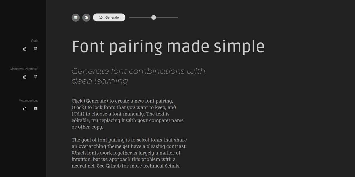 Font Pairing Generator