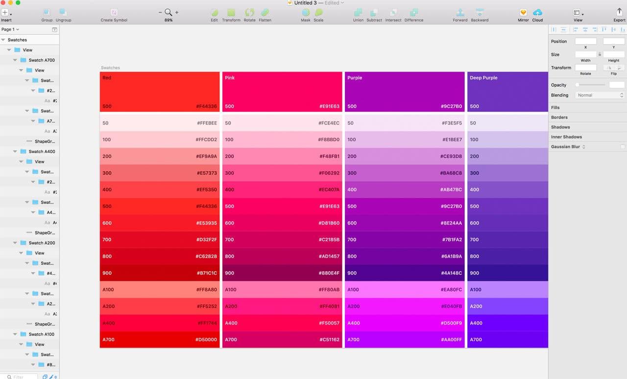 Plugin saves color palette in JSON file