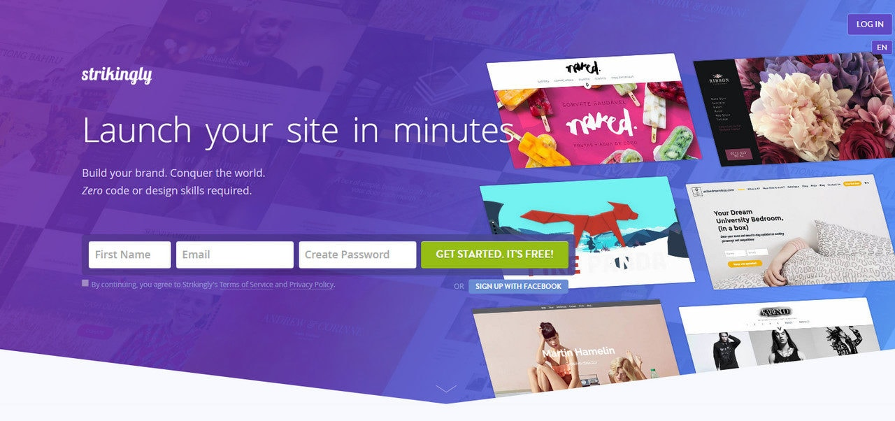 Website builder with fresh solutions
