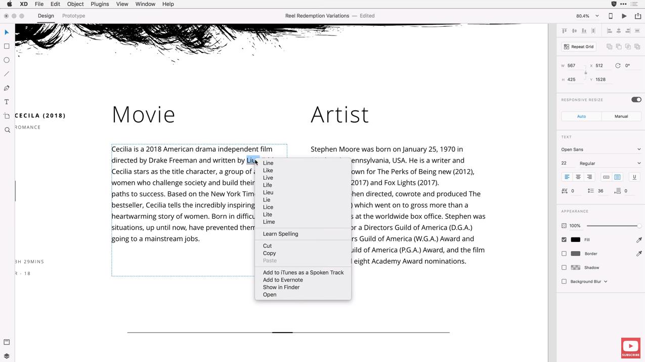 Adobe XD Spell Check