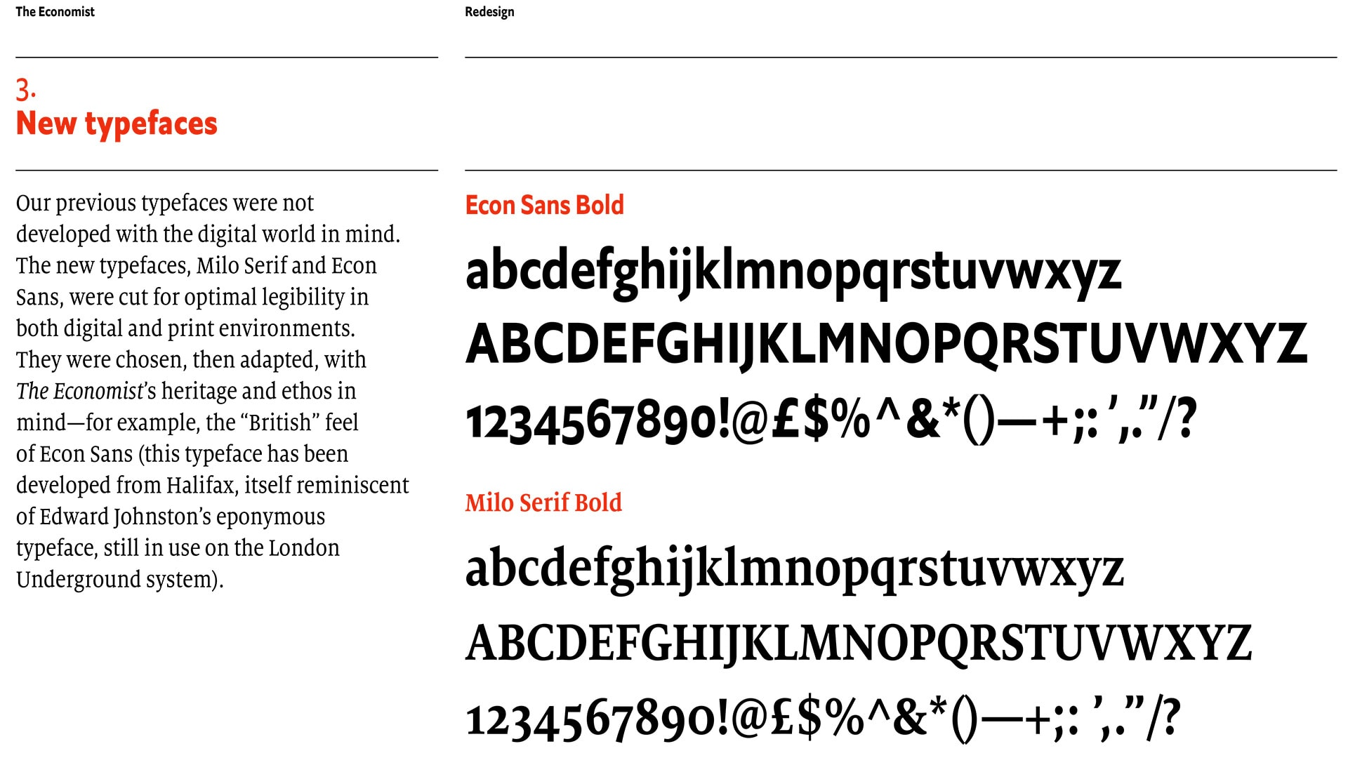 New Typefaces