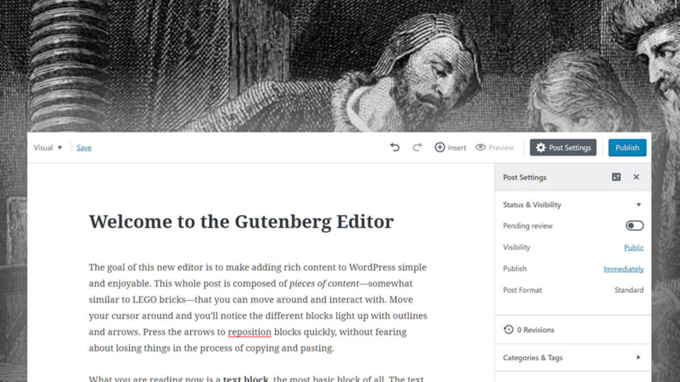 A Comprehensive Guide About the Gutenberg WordPress Editor