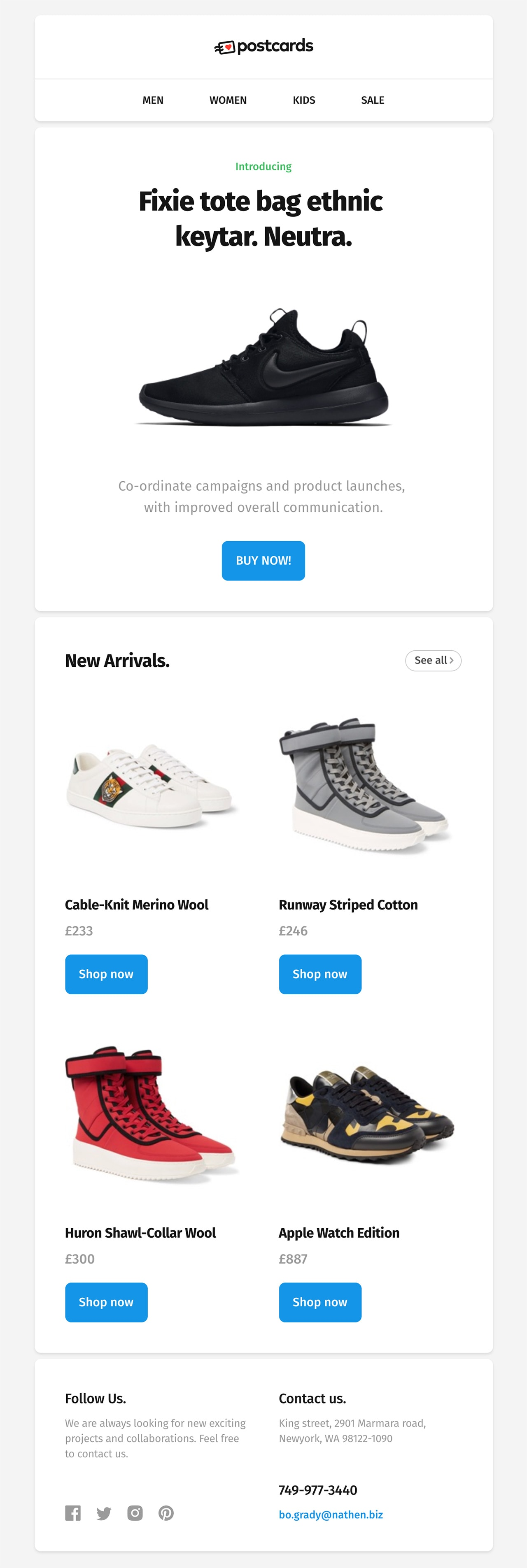 Free E Commerce Html Email Newsletter Template For Download