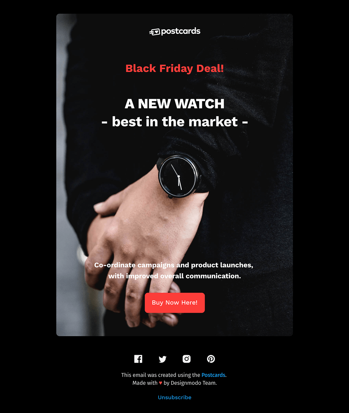 Free Black Friday HTML Email Newsletter