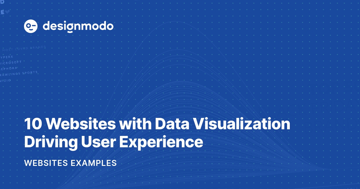 10 Websites with Data Visualization Driving User Experience - Designmodo