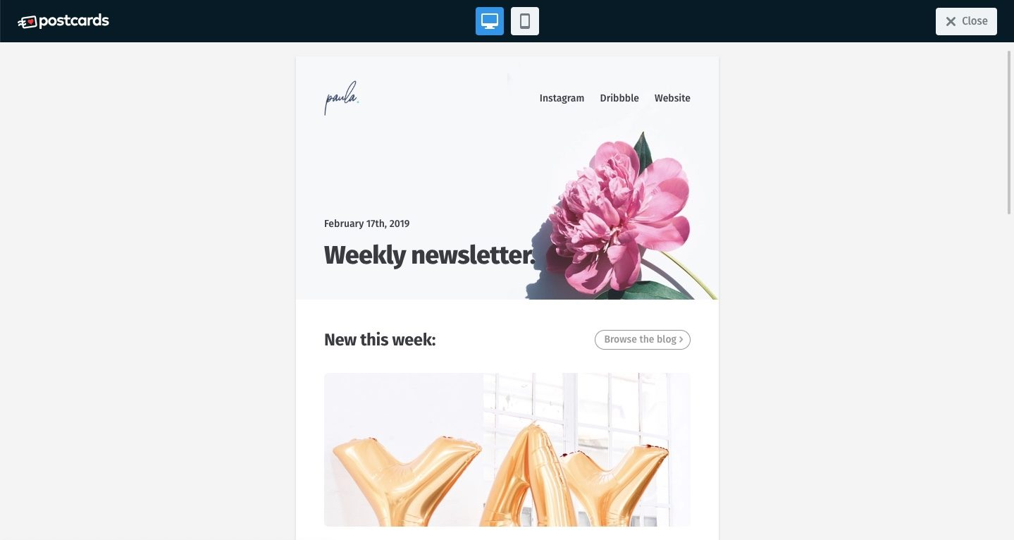 Preview HTML email template