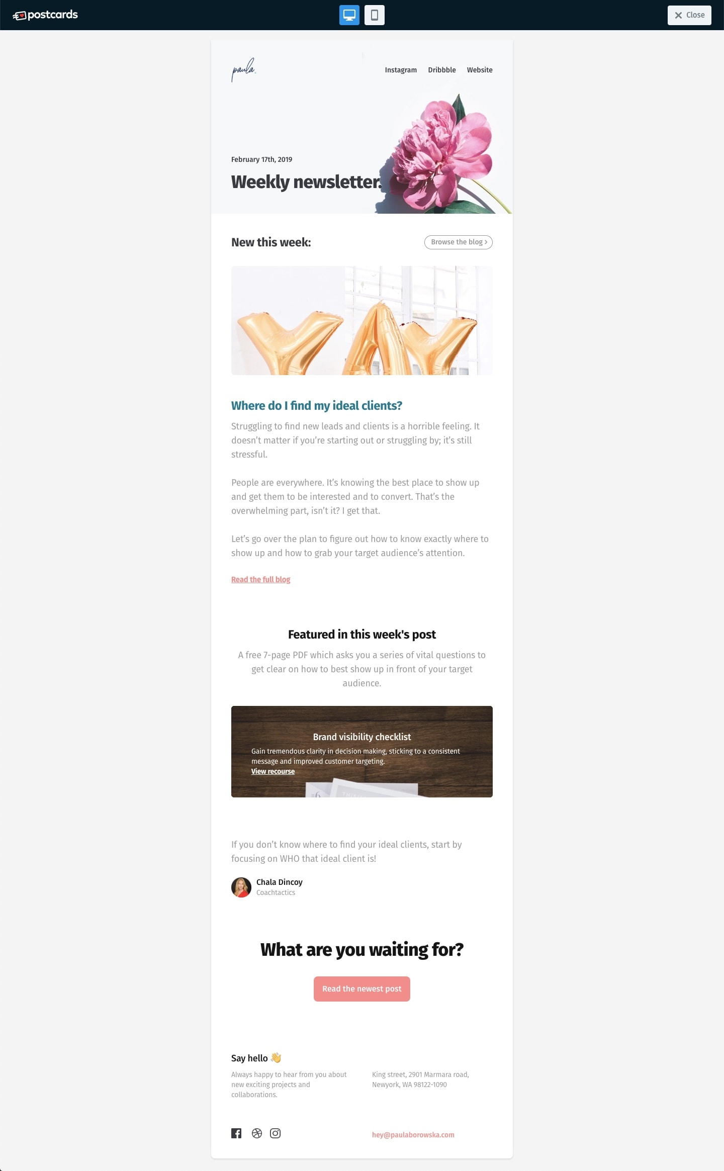 Create a Beautiful and Responsive HTML Email Template with