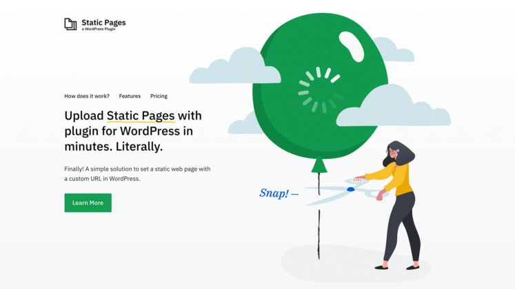 Static Pages – Upload Static HTML Pages to WordPress