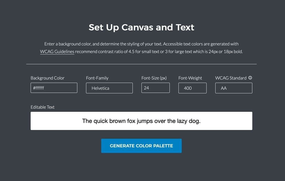 Color Safe helps you create accessible color palettes