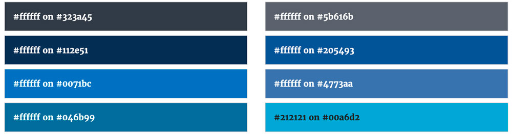 Web Accessibility Guidelines has a color contrast cool