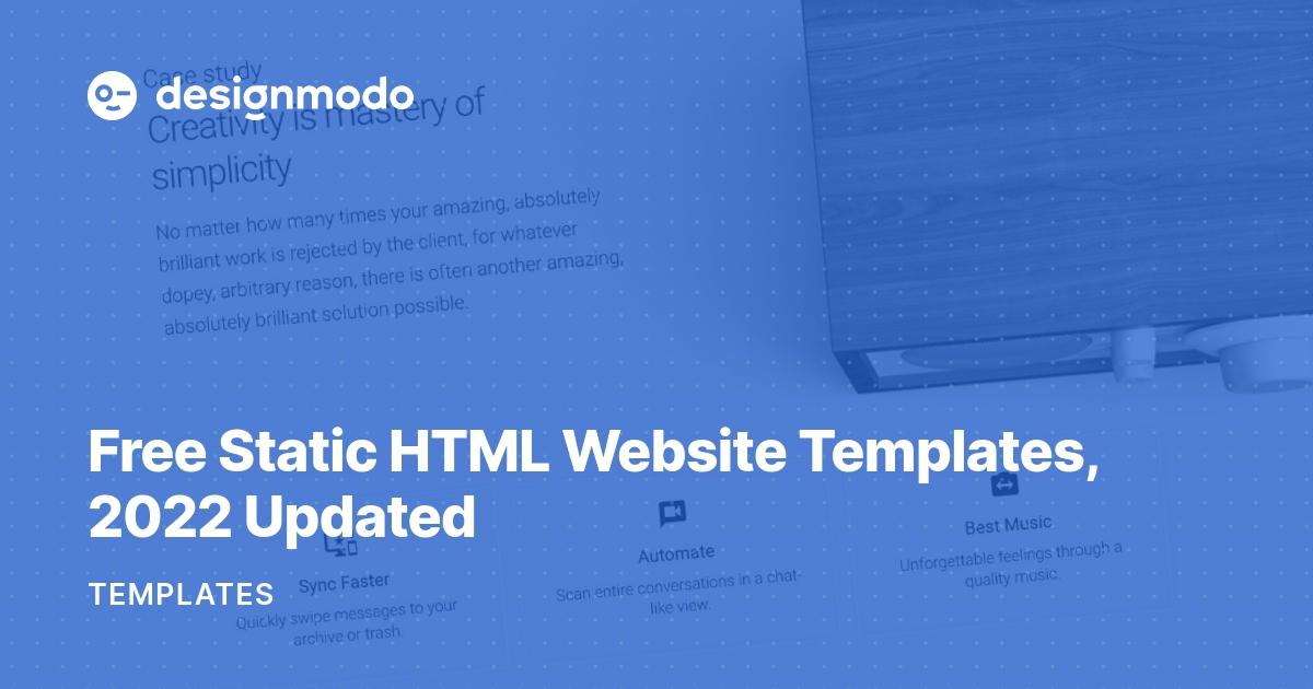 Free Static HTML Website Templates, 2019 Updated - Designmodo