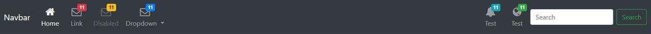 Bootstrap 4 Navbar with Icon Top