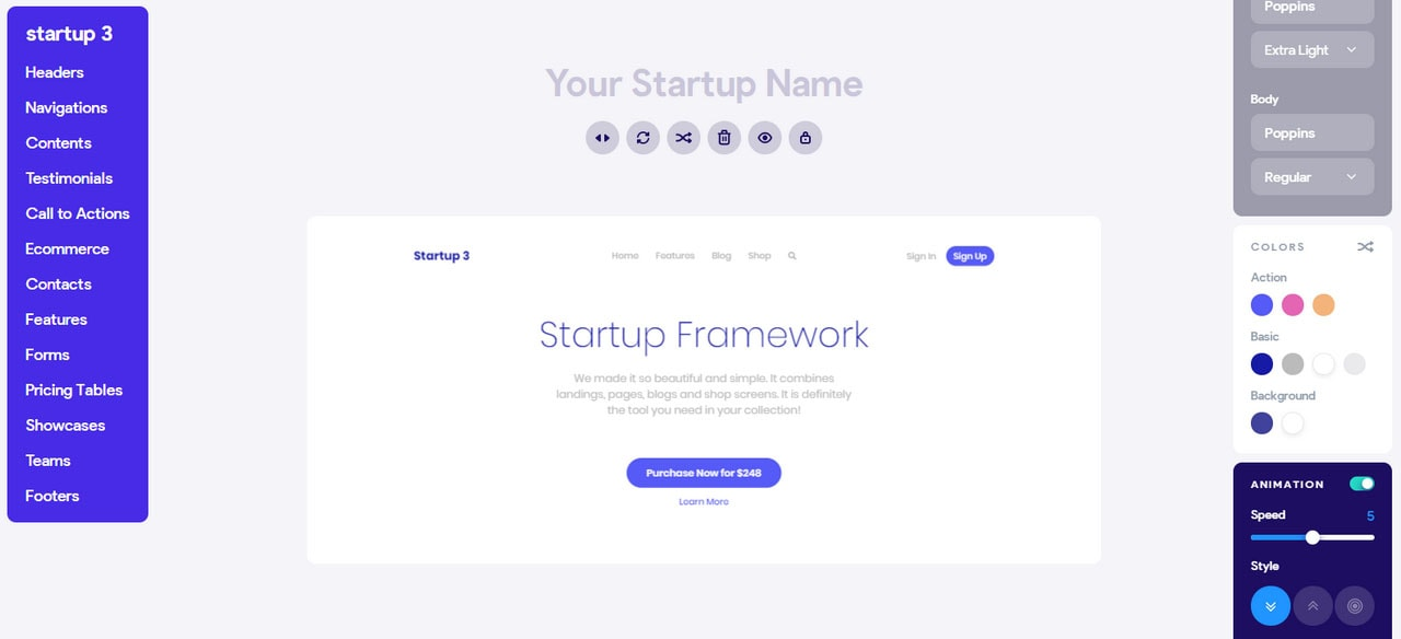 Startup Buttons Generator