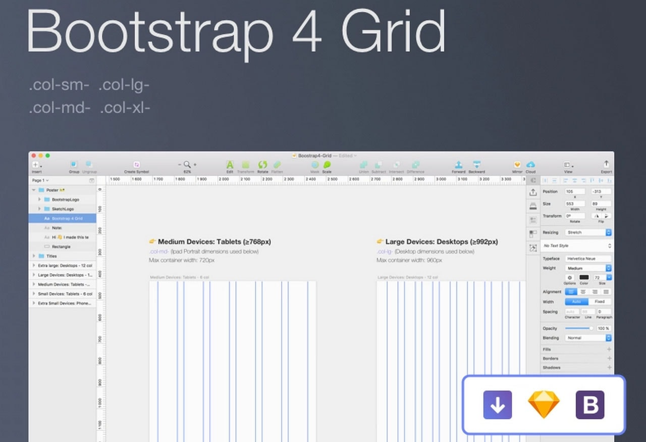 Bootstrap Grid Templates for Designers