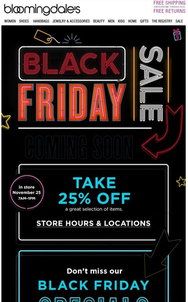 Black Friday from Bloomingdales