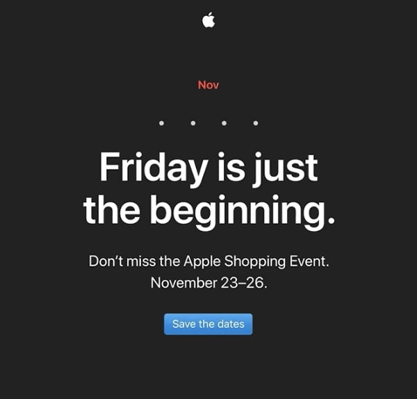 Back Friday Announcement by Apple