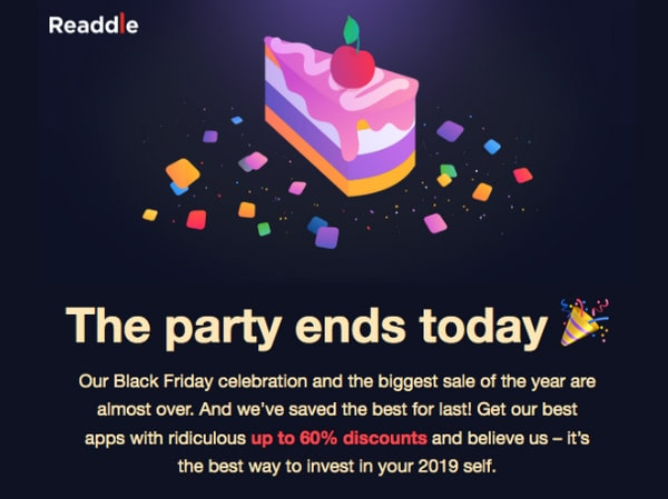 Black Friday Email Newsletter by Yoco