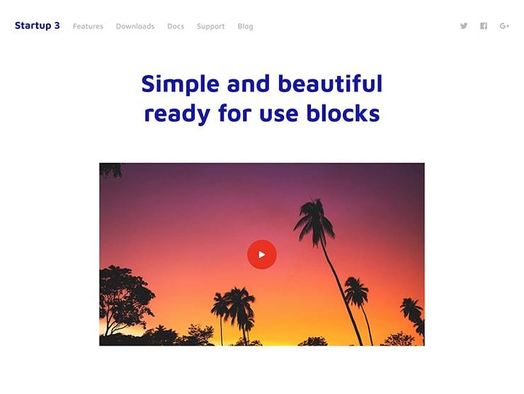 Blocks Landing Page
