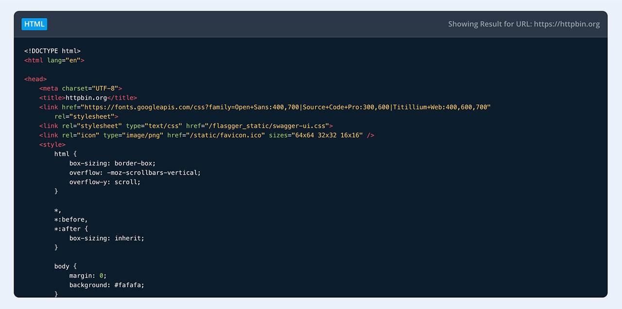 Caractéristiques principales Code API