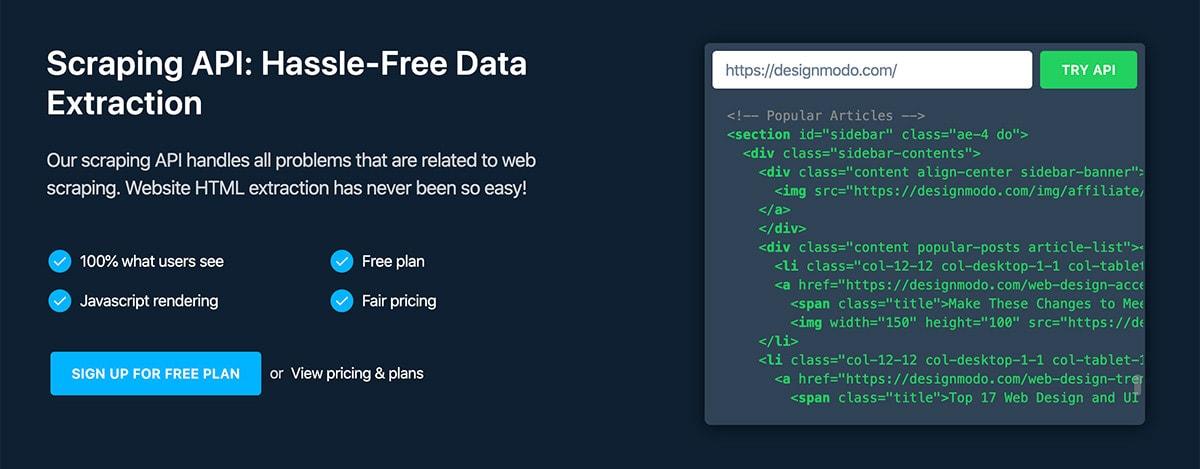 Zenscrape Review: Website HTML Extraction