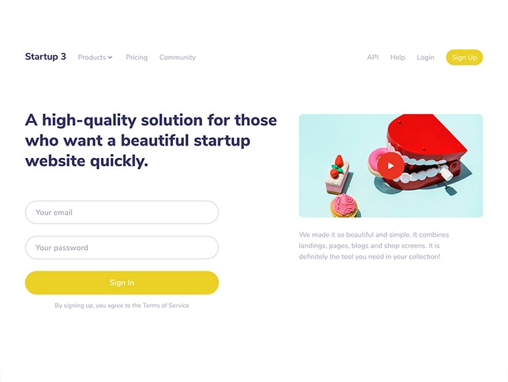 Shop and Pricing Page