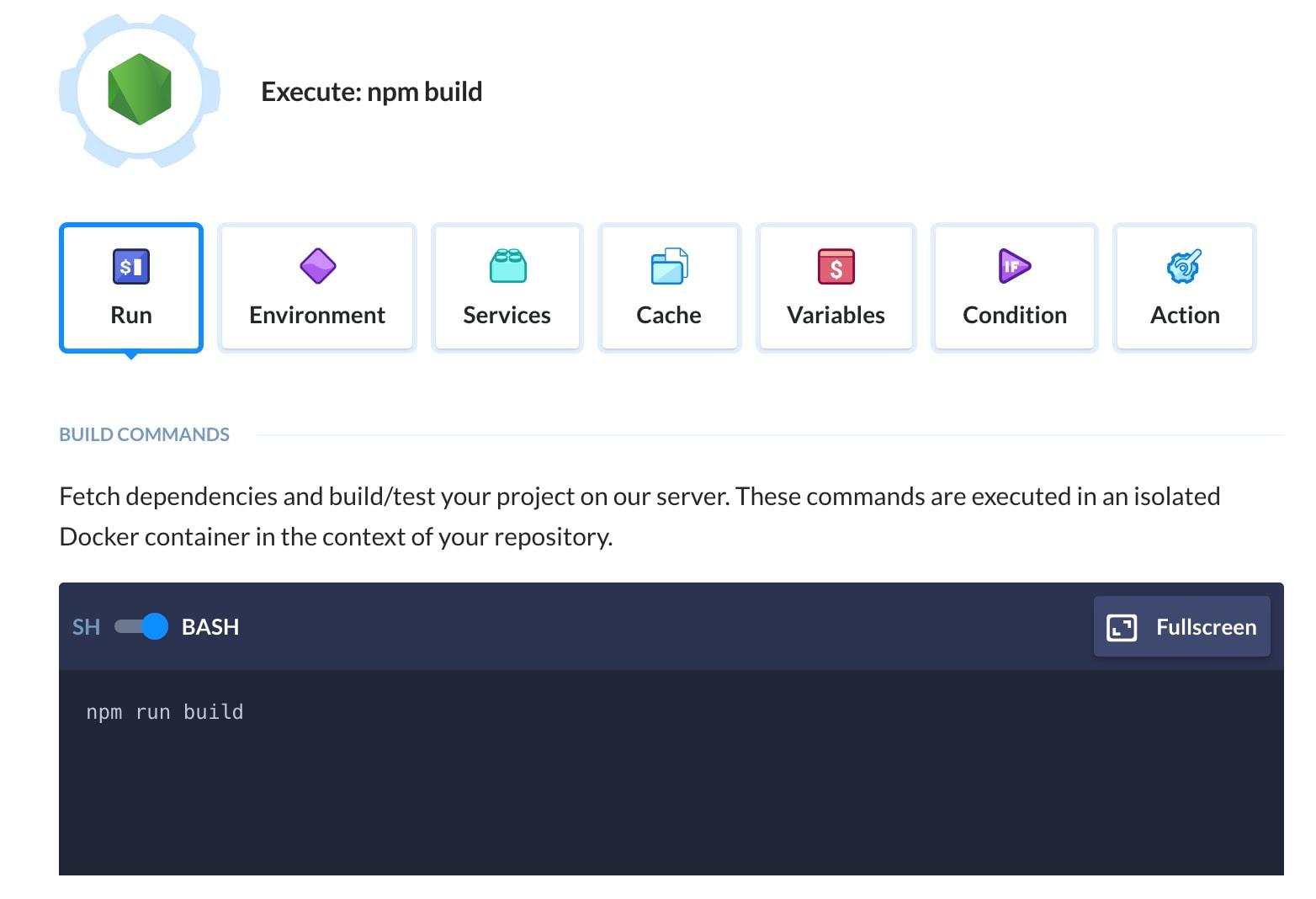 NPM Build on Buddy