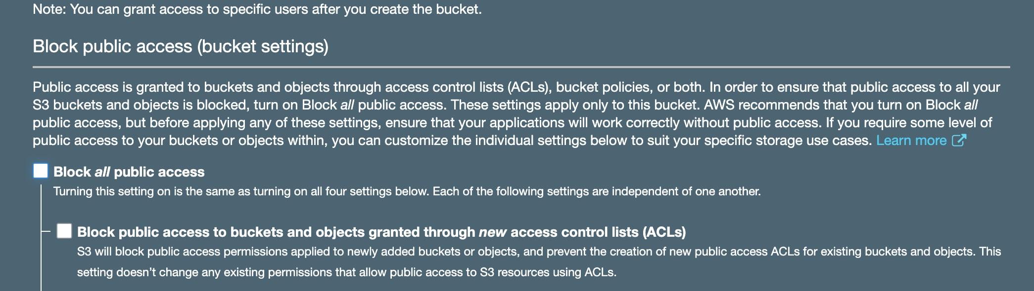 Unblock public access