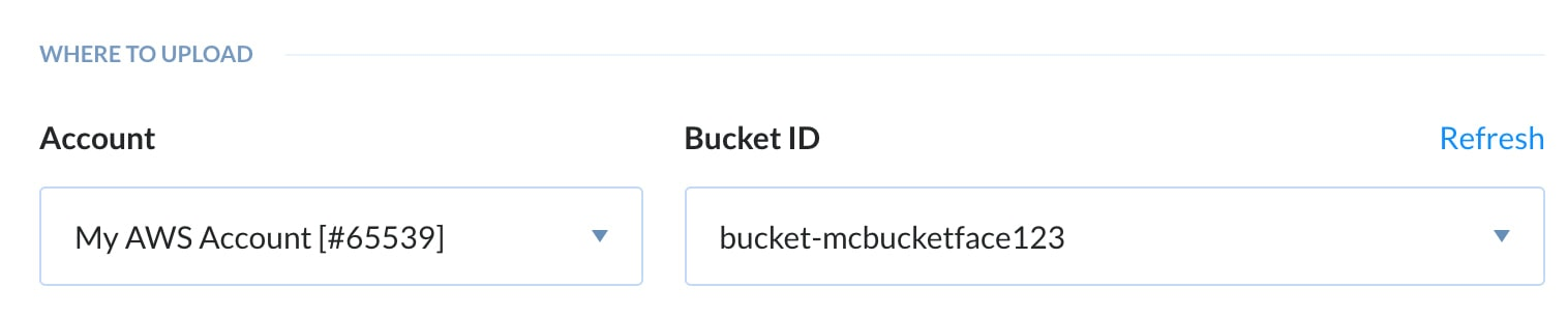 S3 Buckets listed in buddy