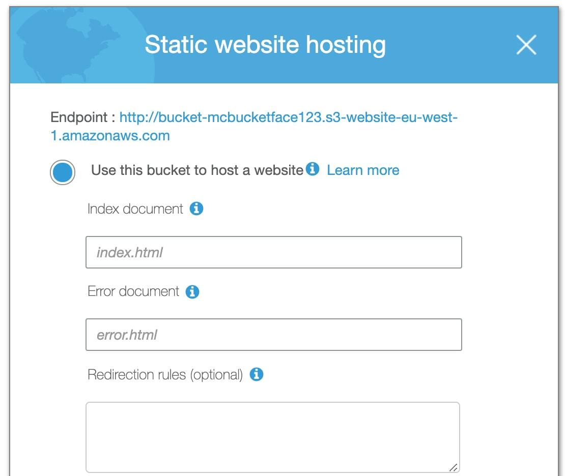 Static Website Hosting