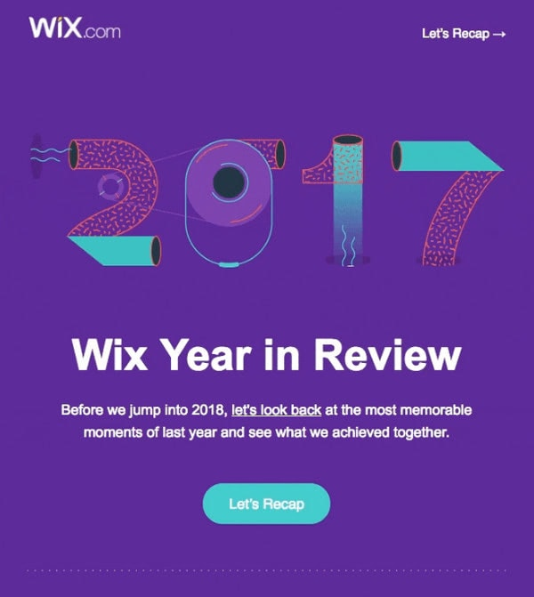 Year in Review by Wix