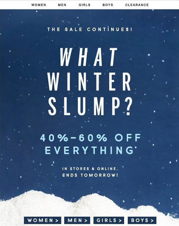 Examples of Magical Winter Email Newsletters