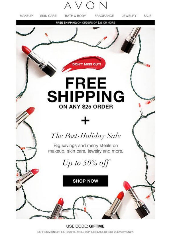 Post Holiday Sale by Avon