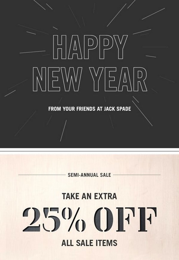 Happy New Year from Jack Spade