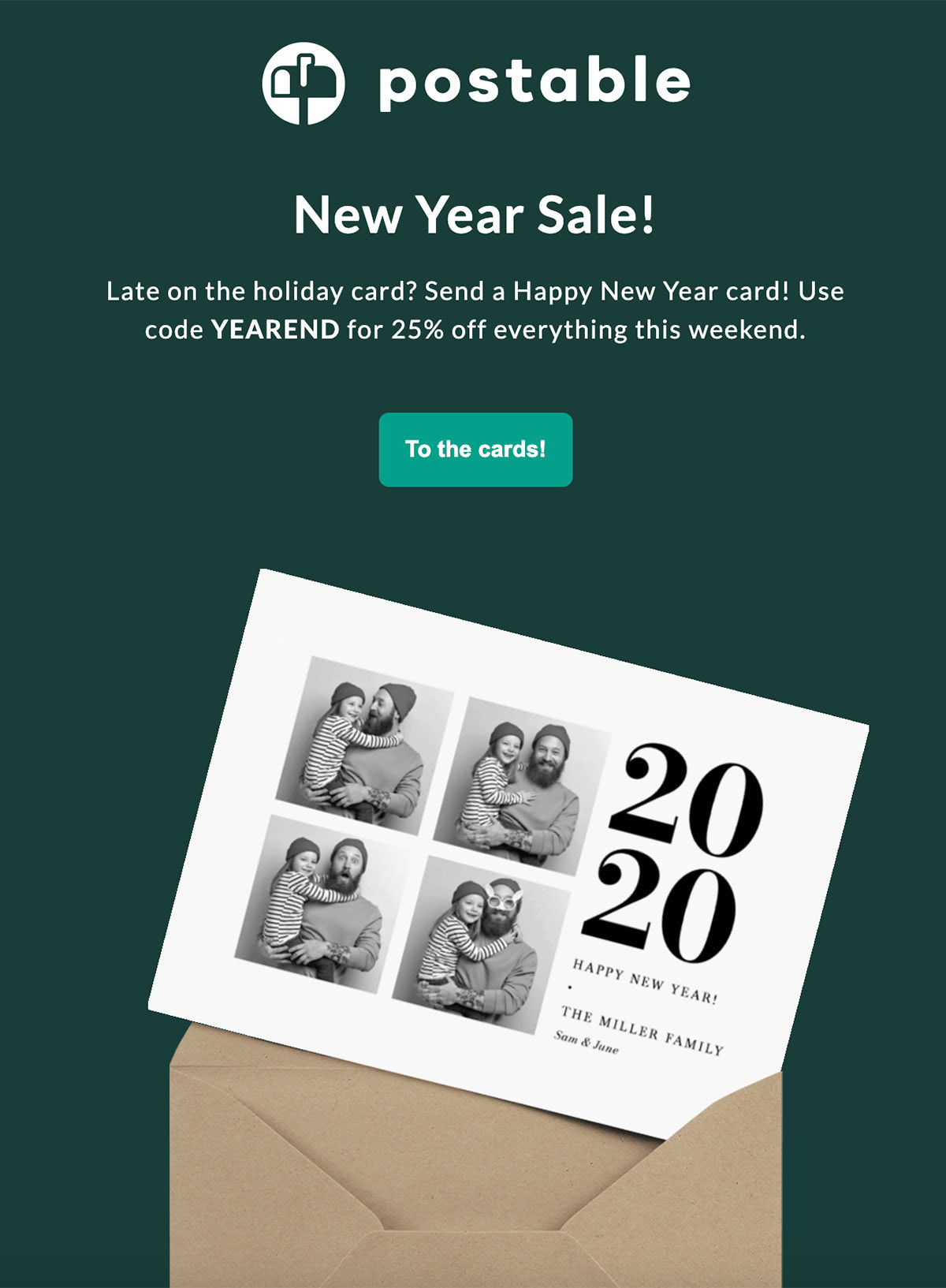 New Year Email Sale