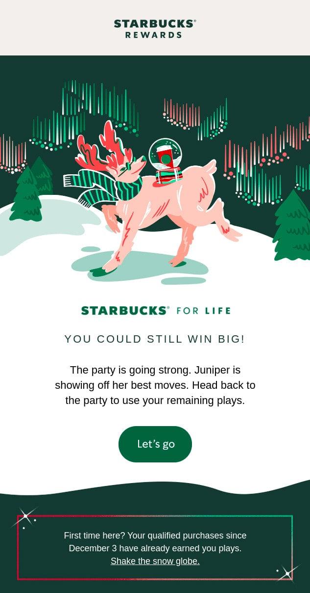 Starbucks Christmas Email