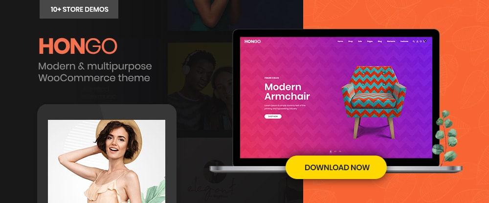 Hongo – Modern & Multipurpose WooCommerce WordPress Theme
