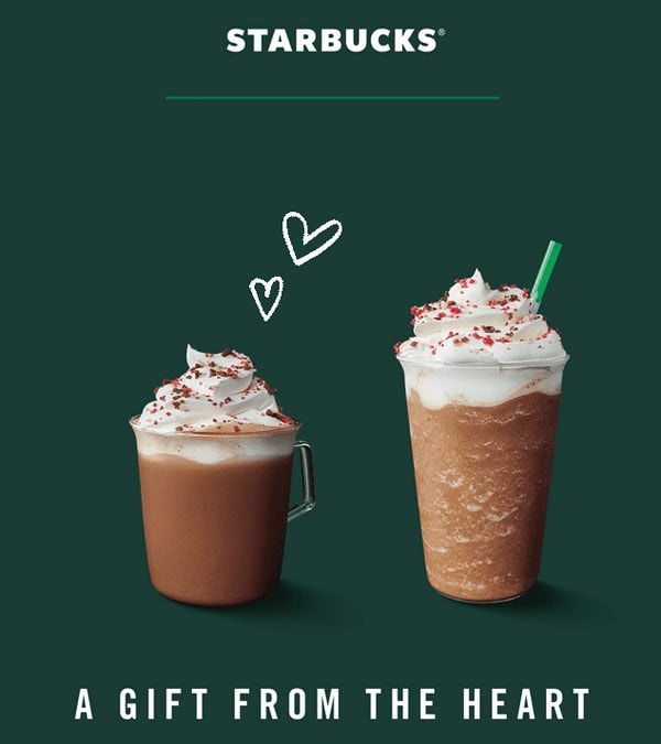 Email Newsletter from Starbucks