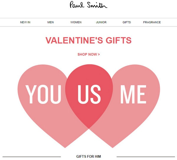 Email Newsletter from Paul Smith