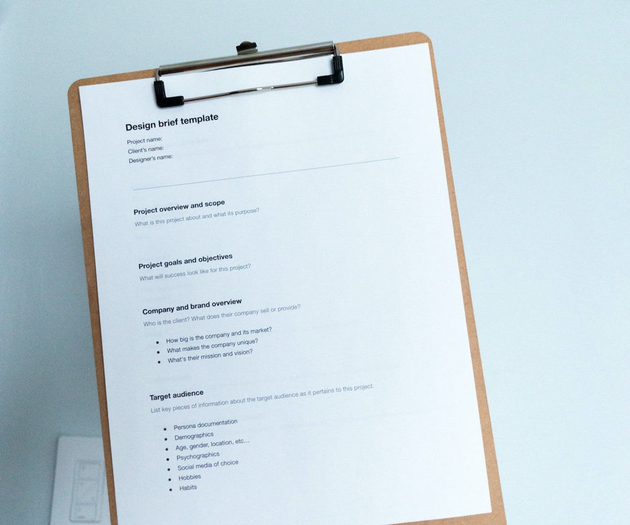 How to Draft a Design Brief for Successful Projects