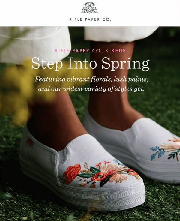 Examples of Spring Email Newsletters with Tips and Tricks